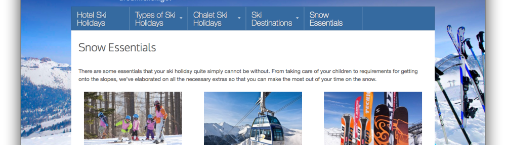 Amazing Ski website